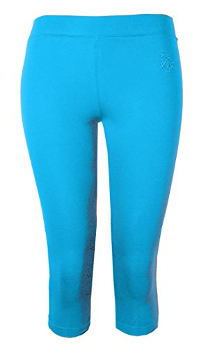 Türkis Ernte (Brody & Co. Damen Leggings Damen Crop Capri Hose 3/4Gym zugeschnitten Leggins Dance Yoga Gr. Medium/Large, türkis)