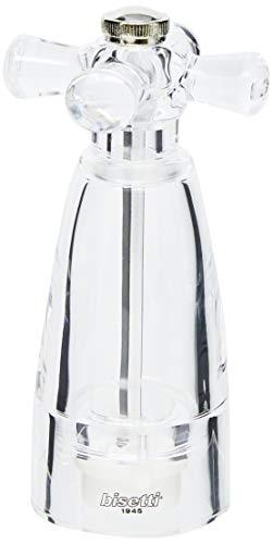 Bisetti macina sale macinasale acrilico trasparente cm14.5h utensili da cucina