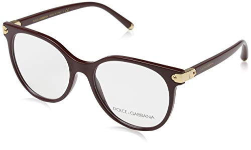 Dolce & Gabbana  Women's 0DG5032 Optical Frames, Multicolour (Bordeaux), 53