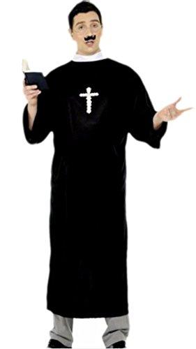 Priester, Pfarrer, Pastor Kostüm, Karneval, Fasching, XL, Schwarz (Bibel-halloween-kostüme)