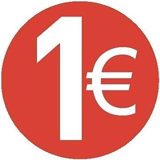 Pack of 200 - 20mm Euro Preisaufkleber - 20 Verschiedene Preise Zur Wahl Aus - 1 Euro Rot