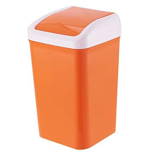 YANGYANG-lajitong Poubelle Poubelle à pédale, Simple Ménage avec Un Couvercle Type de Presse Poubelle, Convient à Salon Cuisine Salle de Bains Chambre,Orange,17 * 17 * 33cm
