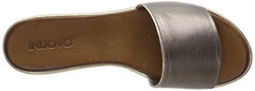 Inuovo Damen 8681 Zehentrenner Silber (Pewter-Gold)