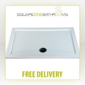 MX Elements Rectangular Flat Top ABS Stone Resin Shower Tray 1200x900mm