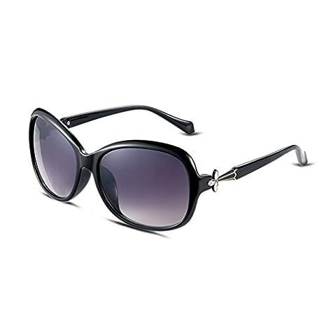 Hmilydyk pour femme Mode classique Lunettes de soleil polarisées rétro Celebrity inspiré ovale rond UV400quotidienne Eyewear Lunettes, Gold Lens