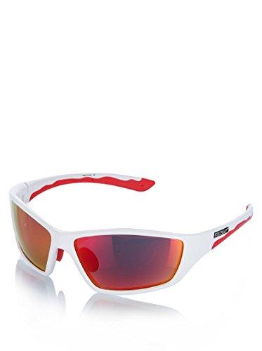 Briko Action Occhiale con Gamma Cromatica di Categoria 3, Bianco/Rosso, Taglia Unica
