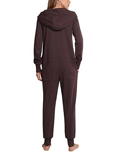Schiesser Damen Einteiliger Schlafanzug Mix & Relax Jumpsuit Braun (Dunkelbraun 301)