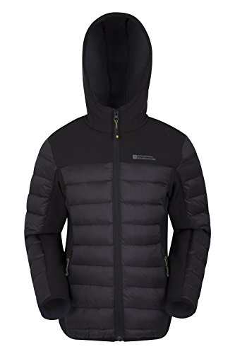 Mountain Warehouse Turbine Kinder-Steppjacke Schwarz 152 (11-12 Jahre)