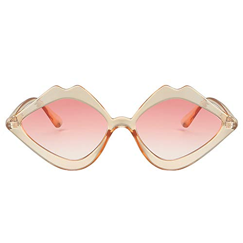Tonpot Fashion Sonnenbrille Unisex Lippenform polarisiert Sonnenbrille Stil Eyewear für Outdoor Brille 15 * 13.5 * 3.7cm rose