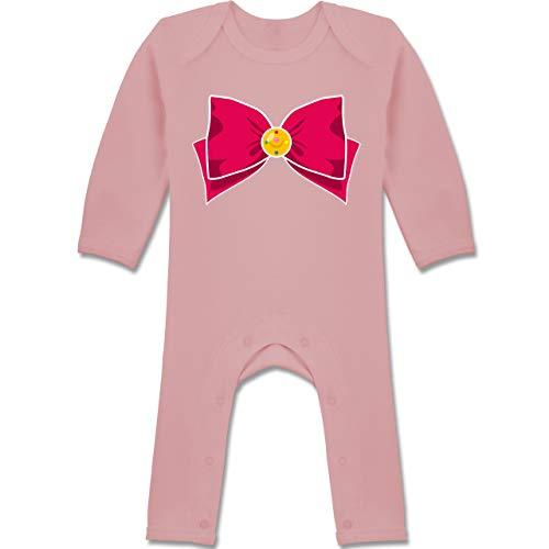 Shirtracer Karneval und Fasching Baby - Superheld Manga Moon Kostüm - 6-12 Monate - Babyrosa - BZ13 - Baby-Body Langarm für Jungen und - 6 9 Monate Superman Kostüm