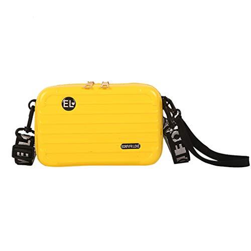 Linkay Neuer HeißEr Verkauf Mode Wild Damen Gepäckbox-Form Tasche Mini-Handytasche Handtasche UmhäNgetasche Rucksack-Gelb (Mini-taschenrechner Casio)