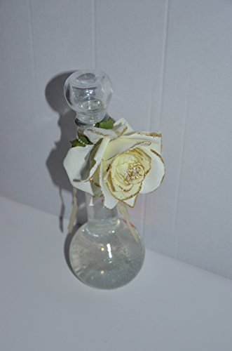 Badeschaum bubble bath Inhalt: 200ml Tolles Geschenk in einer Glaskaraffe mit Stoffrose.