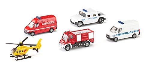 SIKU 6289, Geschenkset , Rettungsset, 5-teilig, Metall/Kunststoff, Bewegliche Teile, Multicolor
