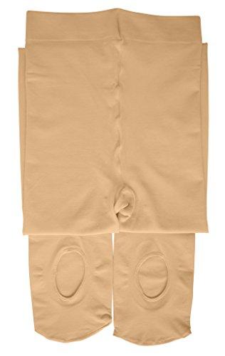 Dancina Mädchen Strumpfhose Ultra-Stretch Mikrofaser m. variablem Fuß 120 DEN L (146 - 164) (Cheerleader Kinder Outfits Für Die)