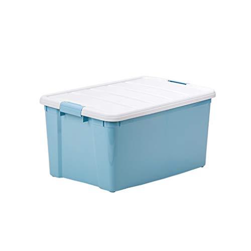Longchaoshop Caja apilable de plástico Grande de 60 litros Contenedor apilable Fuerte - 3 Paquetes...
