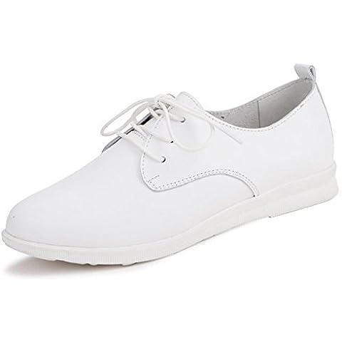 La signora di pizzo scarpe casual/Scarpe in pelle/scarpe basse femminili
