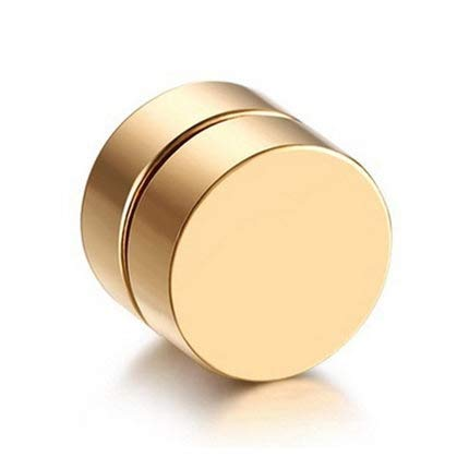 LilifenXCFDC Frauen-Ohrringe FDG 1Piece Punk Unisex starker Magnet Magnetic-Ohr-Bolzen Non Piercing Ohrringe Ohrringe Geschenk 6mm (Gold) (Farbe : Gold)