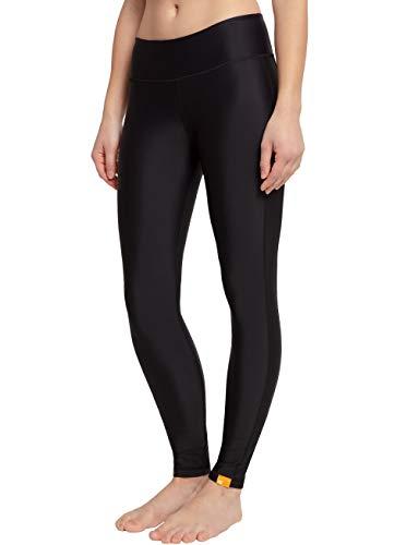 iQ-UV Damen hoher Bund Yoga Leggings, Black, L Pimp Hose
