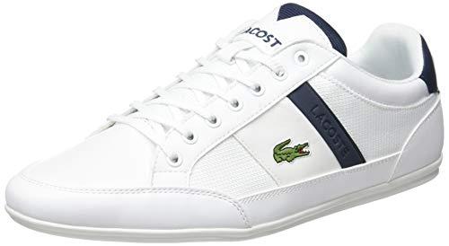 Lacoste Herren Chaymon 319 3 CMA Sneaker, Weiß (White/Navy 042), 45 EU
