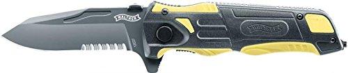 Walther - Pro Rescue Messer schwarz/gelb
