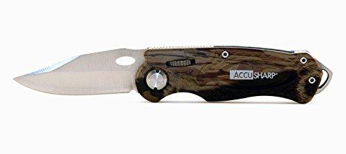 AccuSharp Erwachsene Messer Sportmesser, Tarnfarbe 6.35 cm