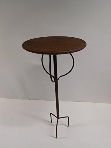 Gartentisch Dekotisch Blumenhocker Beistelltisch Tisch Metall braun 70 cm 160360