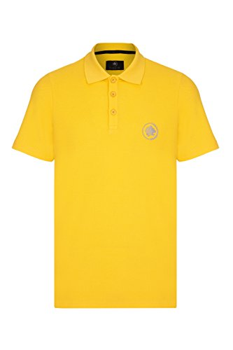 Barror London Men's City Polo Shirt - Medium to Kingsize Yellow