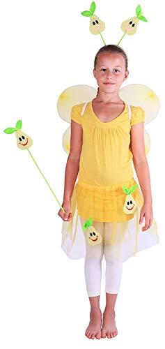 Rappa Verkleidung Lustige Birne für Kinder von 3 - 10 Jahren (110 - 150 cm) - 4 Teile