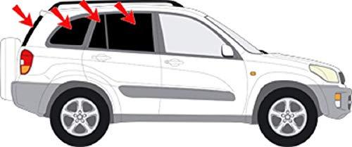 Auto Sonnenschutz fertige passgenaue Scheiben Tönung Sonnenblenden Keine Folien Vorsatzscheiben Toyota RAV 4 2.Gen. 5 Türer Bj.00-06 (Sonnenblende Für Rav 4)