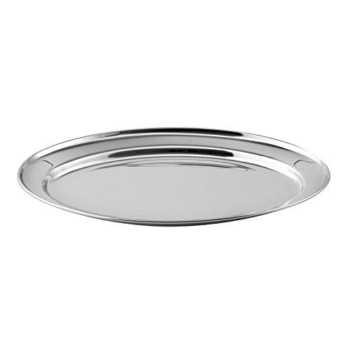Weis 226689226 Servierplatte, 18/10 NC, Edelstahl, Oval, Länge 395 mm, Breite 270 mm