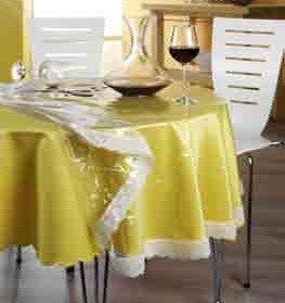 Schutz-Tischdecke Spitze transparent Größe rund: 160 cm Ø