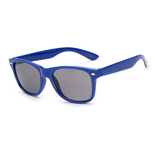 e Sonnenbrille UV400Flexibler Rahmen Classic Retro Shades für Jungen und Mädchen, blau (Super Dunkle Sonnenbrille)