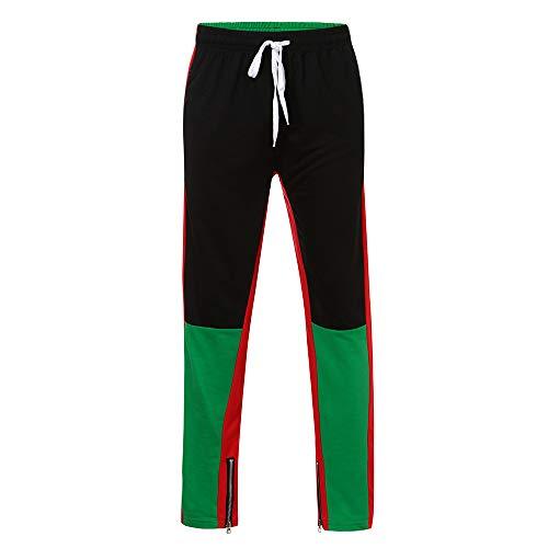 DressLksnf Mode Jogger Couture Pantalon Homme Décontracté lâche Les Pantalons de survêtement Cordon de Serrag