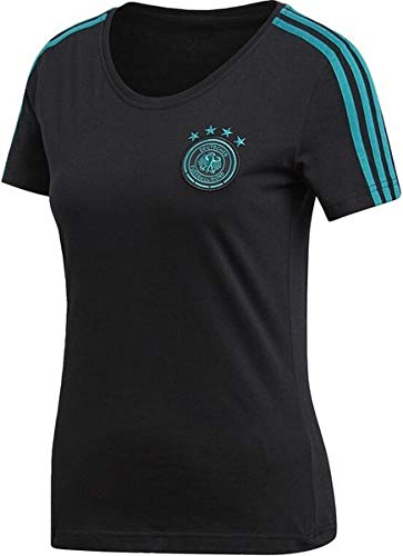adidas Damen DFB Tee T-Shirt, Black/EQT Green s16, S