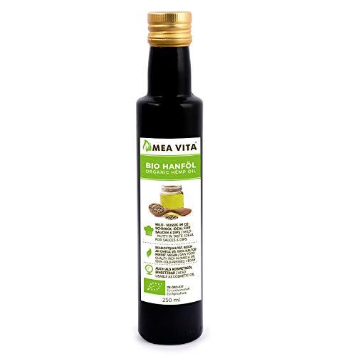 MeaVita Bio Hanföl, 100% rein & kaltgepresst, 1er Pack (1x 250ml)