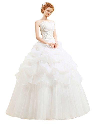 LATH.PIN Damen Chiffon Abschlussball Prinzessin Hochzeitskleider Abendkleider Brautkleider...