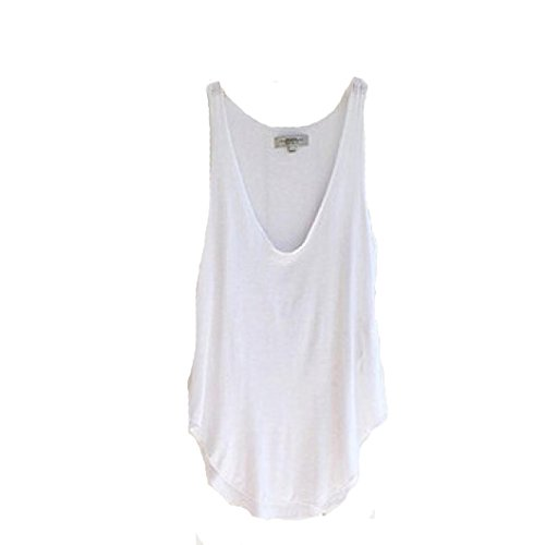 Sexy Gilet , Amlaiworld Les femmes d'été sans manches V-Neck Candy Vest en vrac Débardeurs T-shirt Blanc