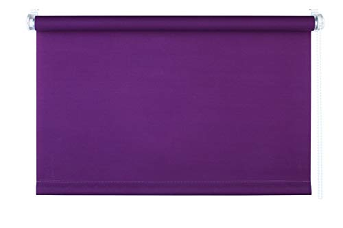 mydecou00ae 60x160 cm [BxH] in lila - Rollo ohne bohren - Klemmrollo - Rollos inkl. Klemmträger - Sonnenschutz, Sichtschutz für Fenster