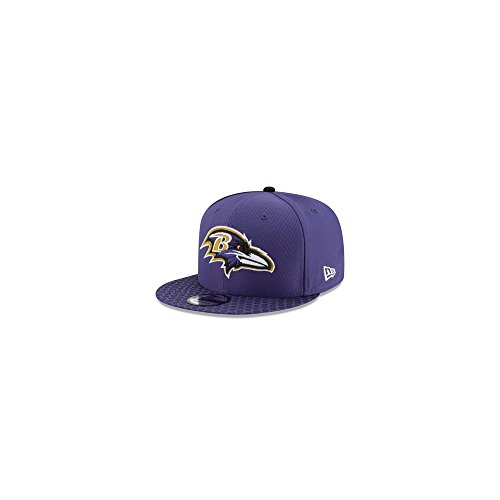 New Era NFL BALTIMORE RAVENS Authentic 2017 Sideline 9FIFTY Snapback Game Cap, Größe:M/L
