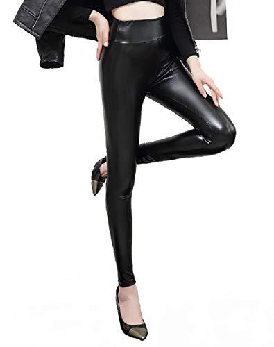 Heekpek Leggings En Similicuir Pour Femmes Pantalon