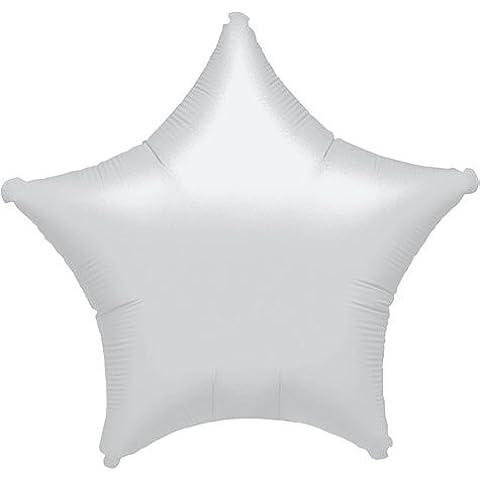 Blancos estrellas globo aluminio (no inflado)