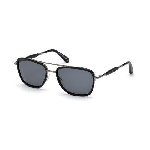 Roberto Cavalli RC1023 C57 01V (shiny black / blue) Sonnenbrillen