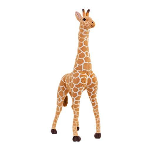Ateasy PLUS00126 plüschtiere groß Giraffe Puppe Plüschtier Kitz Ornamente Fotografie Requisiten Geschenk für Kinder stoffpuppen für mädchen Dekoration Wohnung modern großes Kuscheltier 100 cm (80cm) -