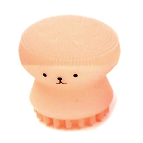 Woodrowjen Superior Cartoon Soft Silicon Deep Washing Face Cleaning Brush(None orange) -