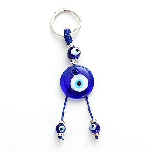 VAWAA Türkische Herz Glas Böses Auge Charms Schlüsselanhänger Einfache Pendent Schlüsselanhänger Legierung Tasche Schlüsselanhänger Mode Schmuck Geschenke
