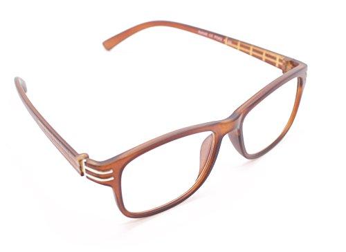 Lesehilfe Nerdbrille Infocus Lesebrille 3 Farben von 1,0 bis 3,0 Dioptrien (Braun, 2,5 x) Infocus-video