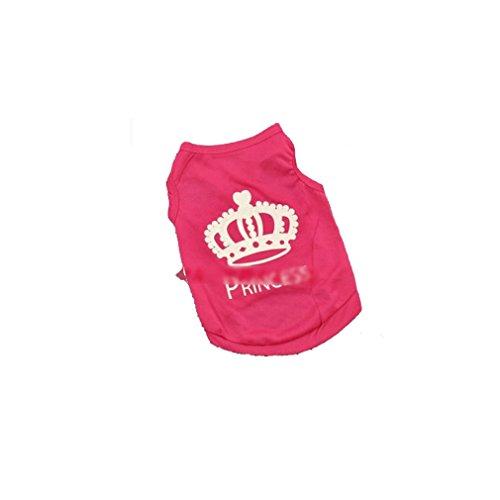 stier Hund Prinzessin T shirt Kleidung Weste Sommer Mantel Welpen Kostüme (Nette Kostüme)
