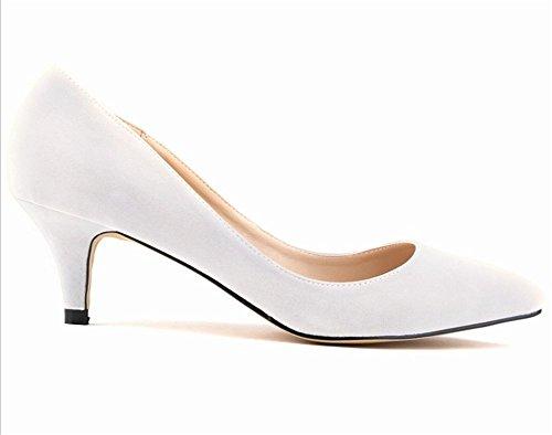 Wealsex stiletto schuhe Spitze Damen Pumps Elegante High Heels 2017 Frühjahr-Sommer Weiß