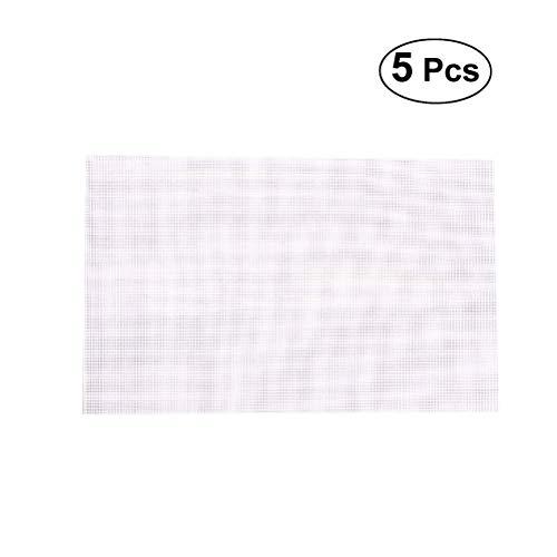 JSMeet 5 stücke Trockner Matten Antihaft-wiederverwendbare Teflon Dehydrator Blätter Mehrzweck Kochen Backliner für Lebensmittel Obst Trockner (37x40 CM)