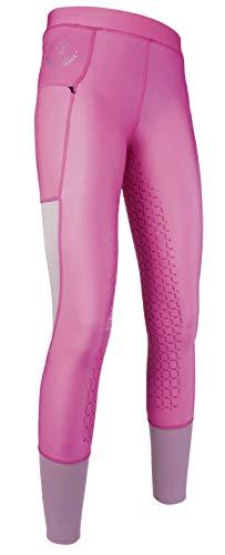HKM Reitleggings -Mesh- Silikon-Vollbesatz, pink, 36/38